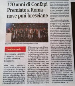Confapi giornale di Brescia