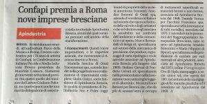 premiazione giornale di Brescia